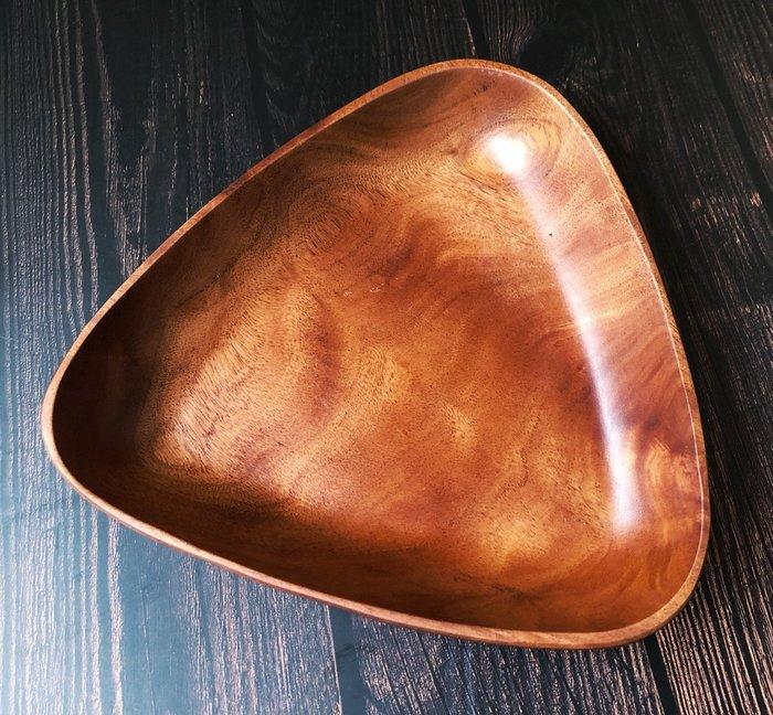 竹藝坊-TB11-1三角造形木盤/點心盤/炸物盤/