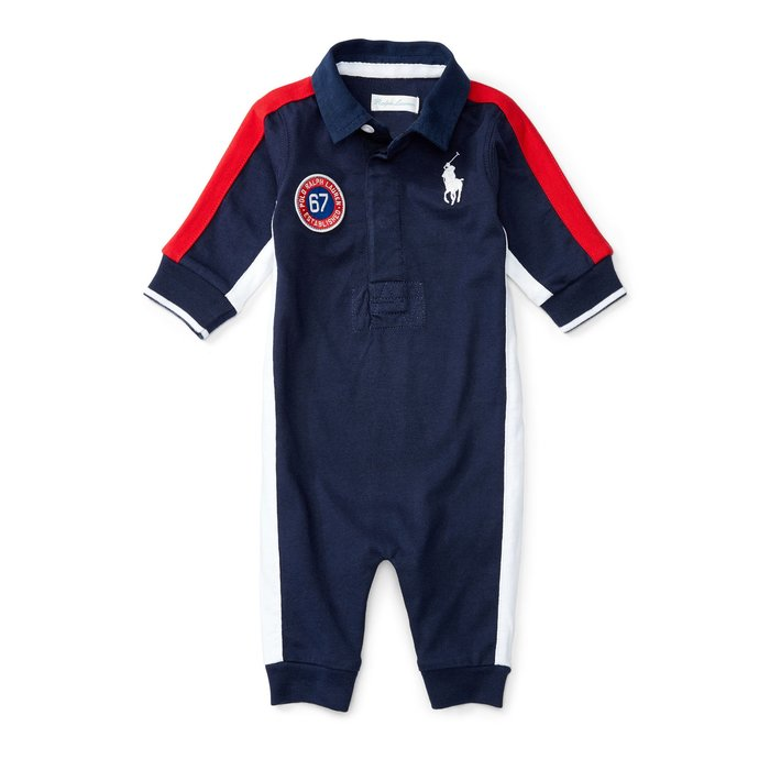 POLORalph Lanuren_COTTON JERSEY RUGBY COVERALL 大馬POLO連身裝
