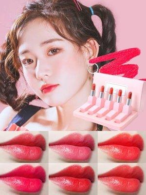 唇膏  抖音同款口紅小樣套裝持久保濕不易脫色韓國防水學生孕婦唇膏正品