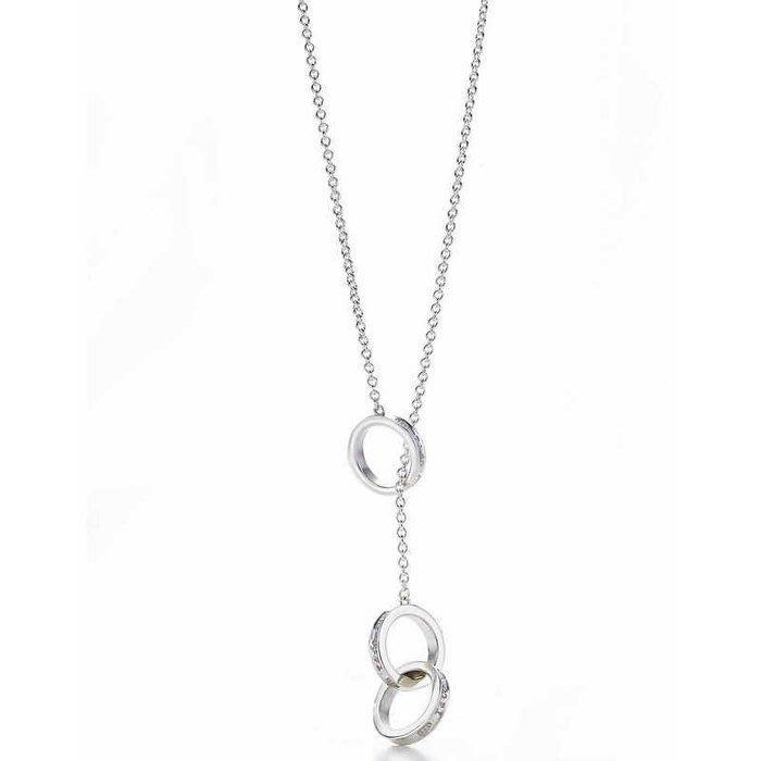 Melia 米莉亞代購 Tiffany&Co. 925純銀 Tiffany 蒂芙尼 項鍊 手環飾品 三扣環項鍊