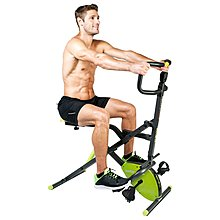 【Fitek 健身網】新型專利☆兩用健身車+健腹機☆折疊式磁控健身車☆騎馬機+健身車☆手部、腿部、腹肌、腰部全身運動