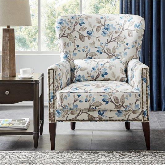 藝術Firenze美式休閑扶手單人椅單個沙發臥室陽臺公主椅書椅