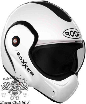 ♛大鬍子俱樂部♛ ROOF® Boxxer 法國 街車 多功能 機能 汽水帽 180度掀蓋 全罩 安全帽 白色