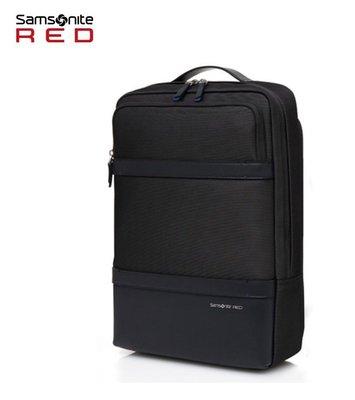 +送好禮 Samsonite RED【BRIU GG6】皮革 抗菌口袋 可插掛 抗震筆電層 15.6吋筆電後背包