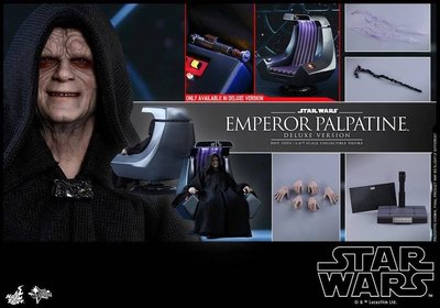 MMS468 Hottoys STAR WARS RETURN OF THE JEDIEMPEROR PALPATINE deluxe 連椅 黑帝