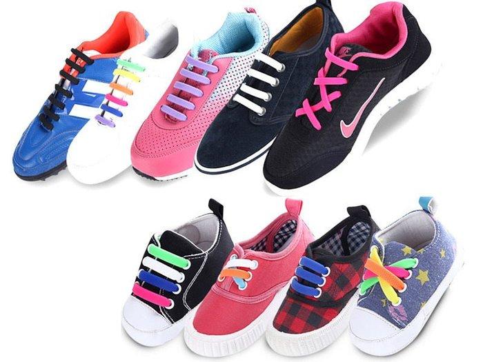 【幸福二次方】矽膠懶人鞋帶 成人款一組8對裝 免綁鞋帶 安全矽膠鞋帶 – 紫 FA-38242