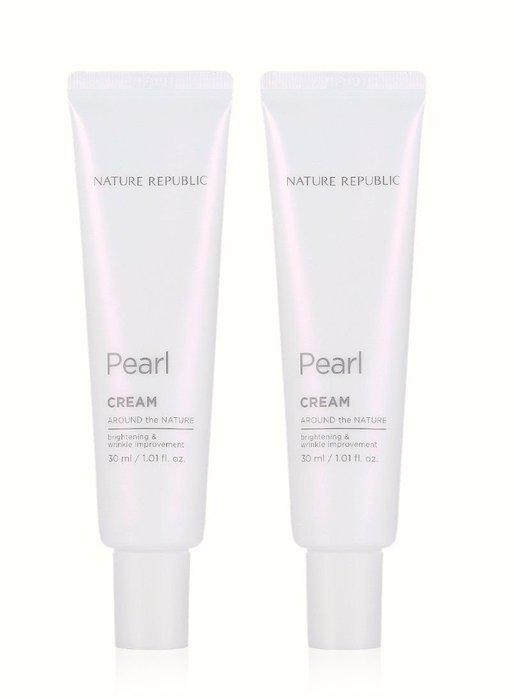 自然樂園Nature republic around the nature pearl cream duo珍珠光釆面霜特惠二件組 預購中