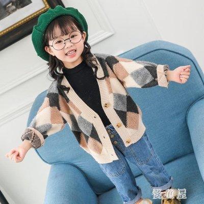 女寶寶毛衣外套韓版小童潮2018秋冬季開衫女童洋氣衣服 QG10026