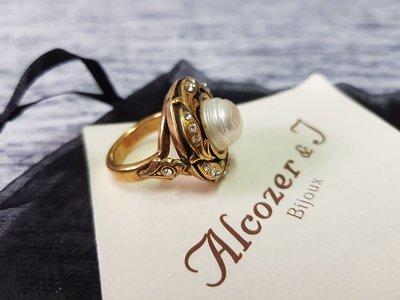 微風廣場引進 義大利設計師品牌A&J 復古珍珠戒指 絕版款 古董飾品