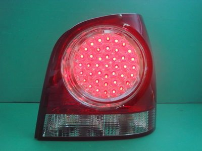 ☆小傑車燈家族☆全新超炫福斯NEW POLO 06年9N2黑框無敵亮LED尾燈組depo製