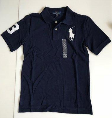 全新 Ralph Lauren 海軍藍大馬POLO衫、 SIZE:M