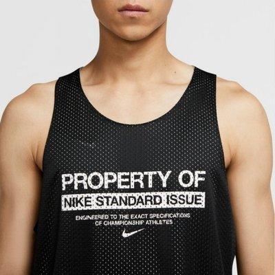 NIKE STANDARD ISSUE 運動 籃球 球衣 背心 雙面穿 橘色 CQ7990-891 黑色 010