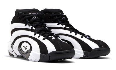 =CodE= REEBOK SHAQNOSIS RETRO 2020 年輪皮革籃球鞋(黑白)FV9284 俠客歐尼爾 男