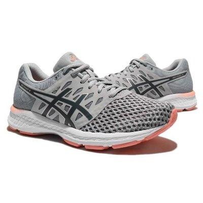 棒球世界 全新ASICS 亞瑟士 女慢跑鞋 GEL-EXALT 4 T7E5N-9697 灰/粉特價