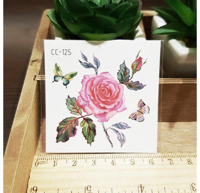 【萌古屋】花朵單圖CC-125 - 防水紋身貼紙刺青貼紙K38