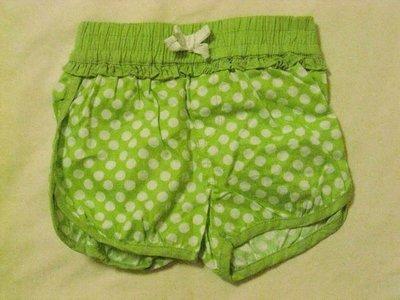 蘋果綠色點點小短褲