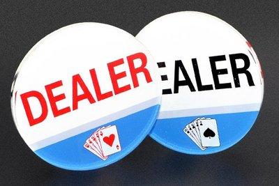 Dealer 牌 水晶透明 壓牌 莊碼 button  鈕扣 德州撲克 使用