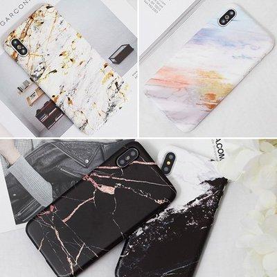 韓國 水彩大理石 硬殼 手機殼│iPhone 5S SE 6 6S 7 8 Plus X XS MAX XR│z8317