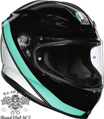♛大鬍子俱樂部♛ AGV ® K-6  Minimal 義大利 超輕量 全罩 安全帽 190度超廣視野 消光 白/藍