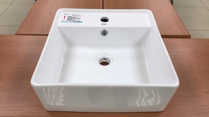 FUO衛浴: 國寶品牌40*40公分優質陶瓷盆F2113便宜出清