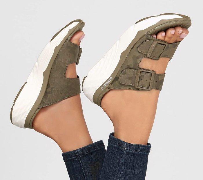 Skechers 2020新款140128 OLV GogaMat舒適緩鞋墊增高5CM超輕量多功能鞋