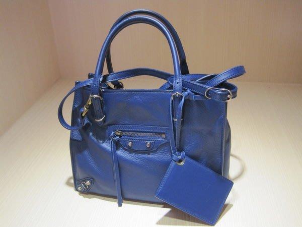*旺角名店* ㊣ Balenciaga 巴黎世家 小扣 皇家藍 mini papier 手提 斜背 兩用包 305572
