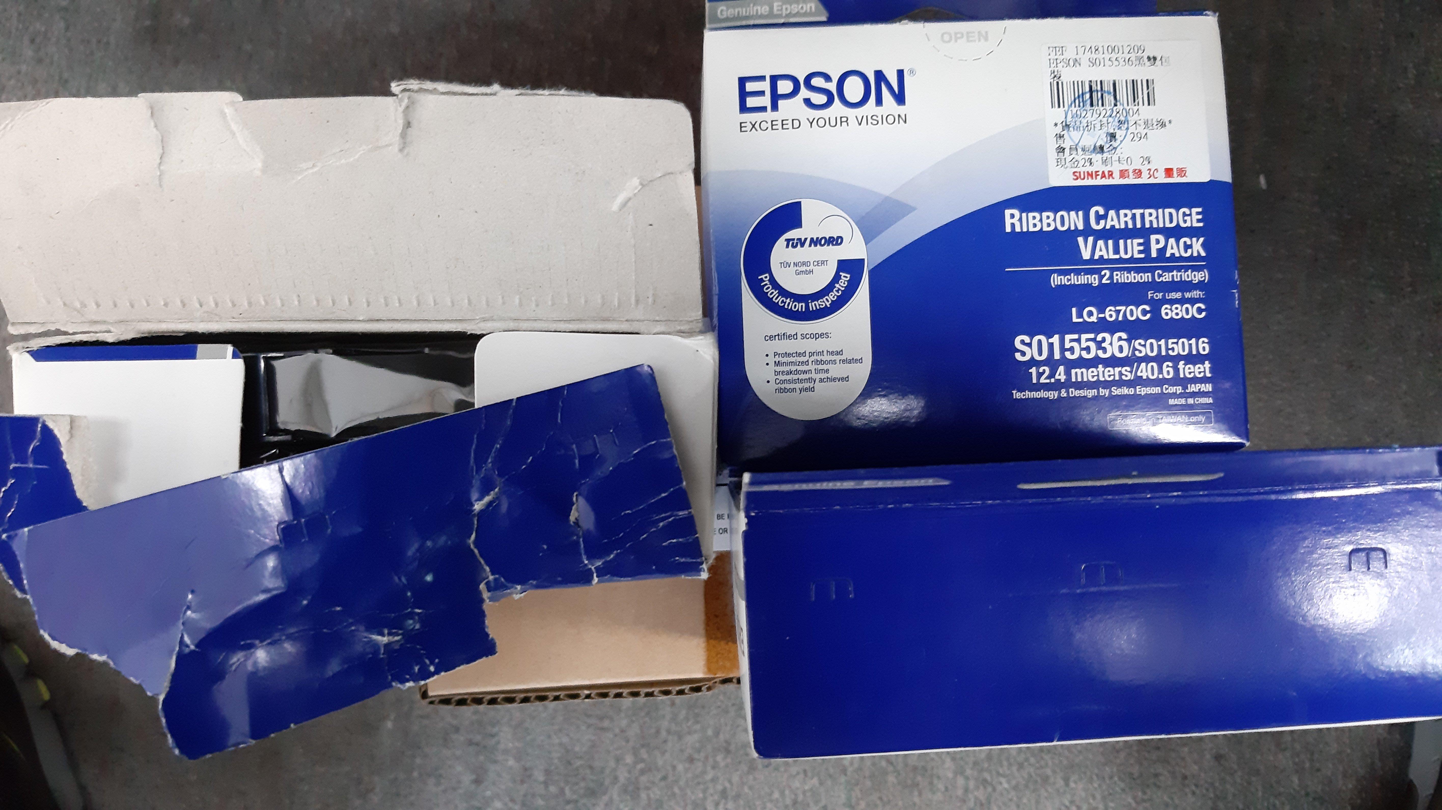 EPSON LQ-680C/670C印表機原廠色帶( S015536)/S015016