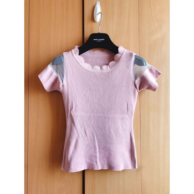 korea soft pink off shoulder knit top blouse zara zalora asos 韓國浪漫粉紅透示手袖特別領款襯衫