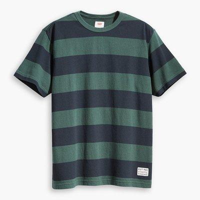 全新 Levis 黑綠條紋短袖T恤