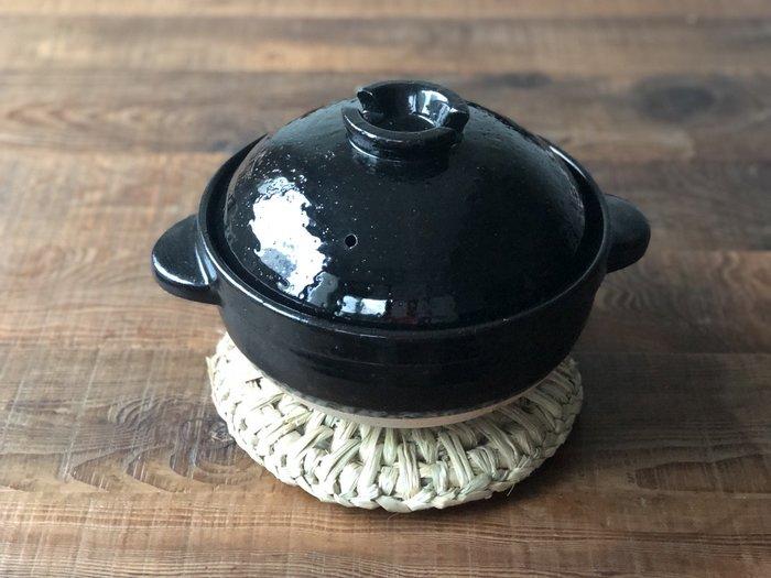 發現花園 日本選物 - 日本製 手工編織 天然草 可掛式 隔熱墊 鍋墊~新潟大鍋敷