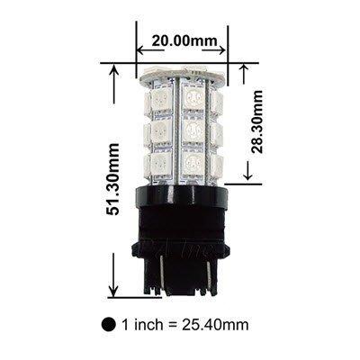 【PA LED】3156 美規 尺寸小 晶片多 30晶 90晶體 SMD LED 紅光 後燈 方向燈