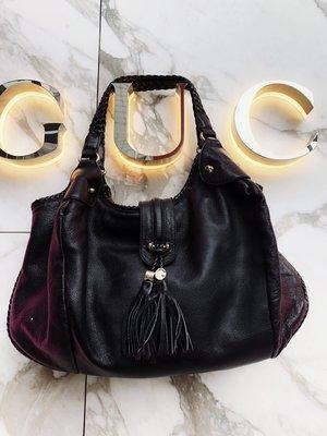 gucci braided handle tote hobo bag