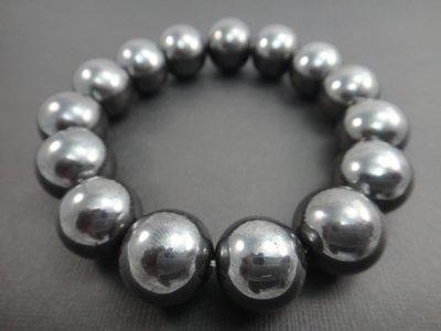 【競標網】天然漂亮黑膽石(黑鑽石)手珠14mm(回饋價便宜賣)限量10組(賣完恢復原價250元)