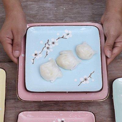 碟子 家用陶瓷菜盤飯盤方形盤方盤深淺盤...