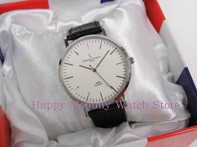 【 幸福媽咪 】valentino coupeau范倫鐵諾 簡約風格皮革錶帶 男錶 白面 61576SG