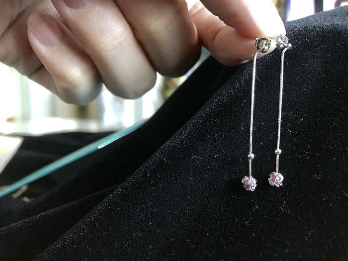 日本品牌 vielle 碧璽 半寶石 水晶 白K抗過敏耳環 出清價800元