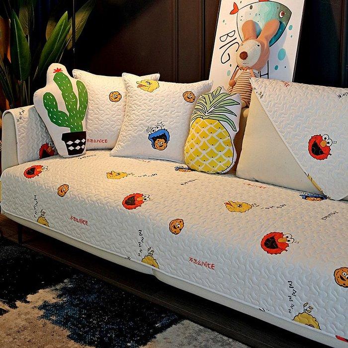 沙發墊 全棉沙發墊四季通用北歐簡約可愛卡通坐墊少女風純棉沙發套罩夏季解憂大鋪子