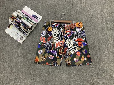 NBA聯名籃球褲  籃球短褲 口袋版 迷彩色 大小logo倂接款式  正版