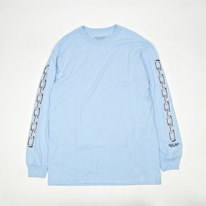 Hotel Blue - Chains Longsleeve Tee 水藍色 薄長T 現貨販售