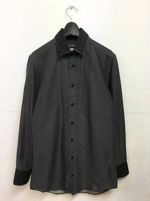 DOLCE&GABBANA dress shirt 刺繡波卡圓點長袖襯衫 上衣 slim fit 38/15