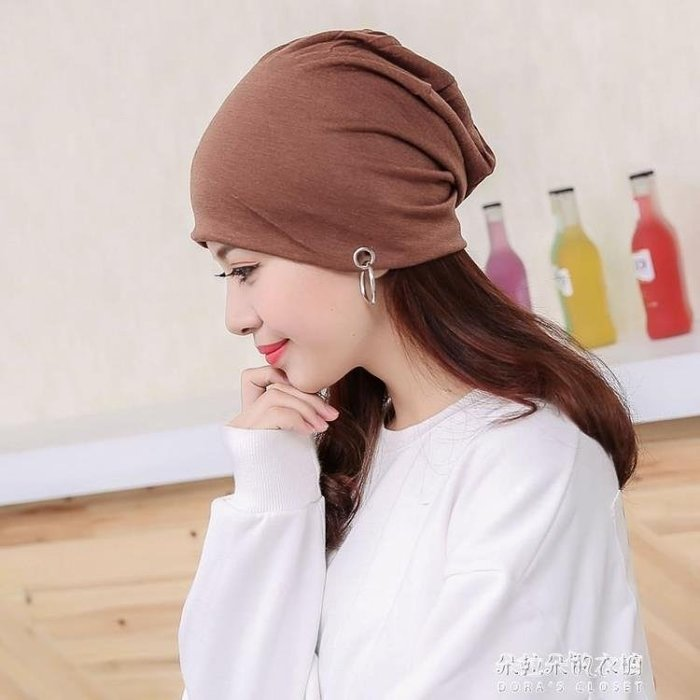 帽子薄款純棉透氣光頭睡帽月子帽大碼包頭帽