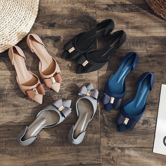 鞋尖頭高跟鞋時裝涼鞋多色蝴蝶結休閒鞋花朵涼鞋夏季果凍鞋
