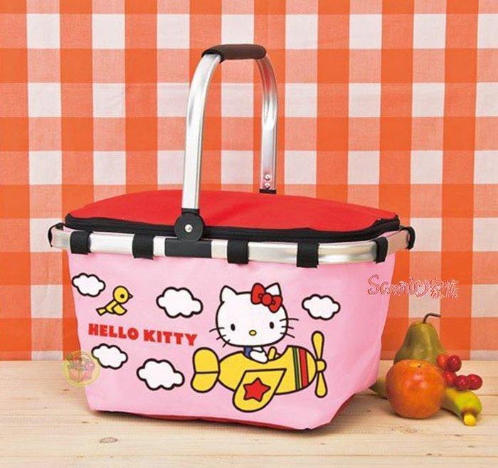 《東京家族》日本三麗鷗 Hello Kitty 坐飛機粉色折疊保冷野餐籃