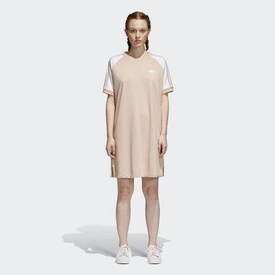 adidas Originals CY4760 長版洋裝 連身長裙 淡粉色