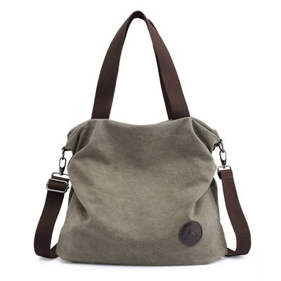 手提包帆布肩背包-學院風簡約輕便純色女包包7色73wa34[獨家進口][米蘭精品]