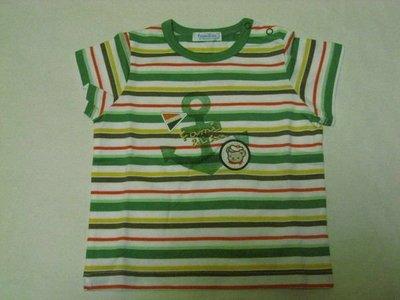 麗嬰房Familiar 系列綠色海軍風棉T