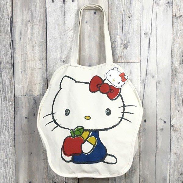 帆布 造型 手提包 KITTY  超大尺寸 購物袋 外出包 A4 才藝袋 小日尼三 團購 批發 有優惠 現貨免運費