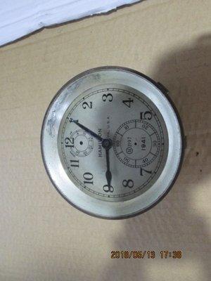 早期 古董全銅石英船鐘(故障,需自行修理)