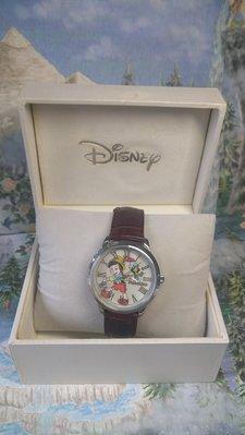 雙子星店 迪士尼 Disney Pinocchio 小木隅 手錶真皮帶 日本 全新