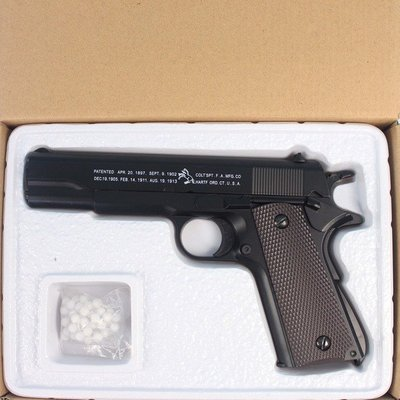 K8 加重型玩具槍(黑色)/一支入(促350) 手拉空氣BB槍 手拉式空氣BB槍-錸
